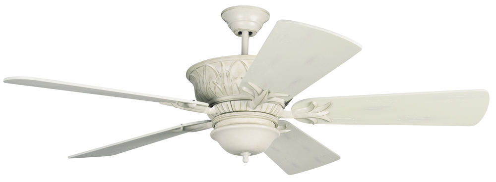 Pavilion 52 Ceiling Fan Kit In Antique White Distressed