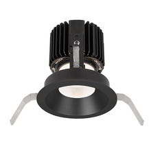 White WAC Lighting HR-3LED-T418F-W-WT LED 3-Inch Recessed Down Light Adjustable Round Trim with 50-Degree Beam Angle and 3000K Color Temperature
